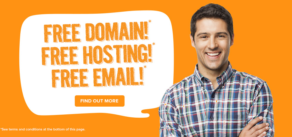 FREE domain, hosting &email for a limited time