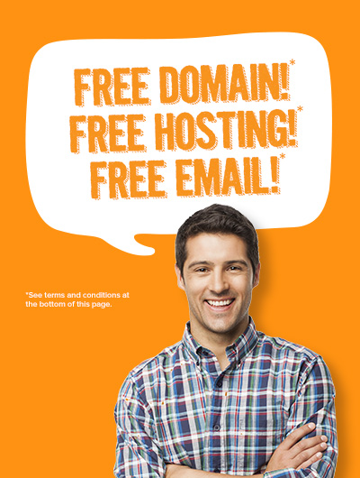 FREE DOMAIN + FREE HOSTING + FREE EMAIL